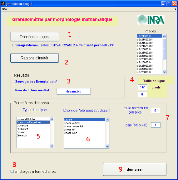 GranuloMorphoGUI software in use